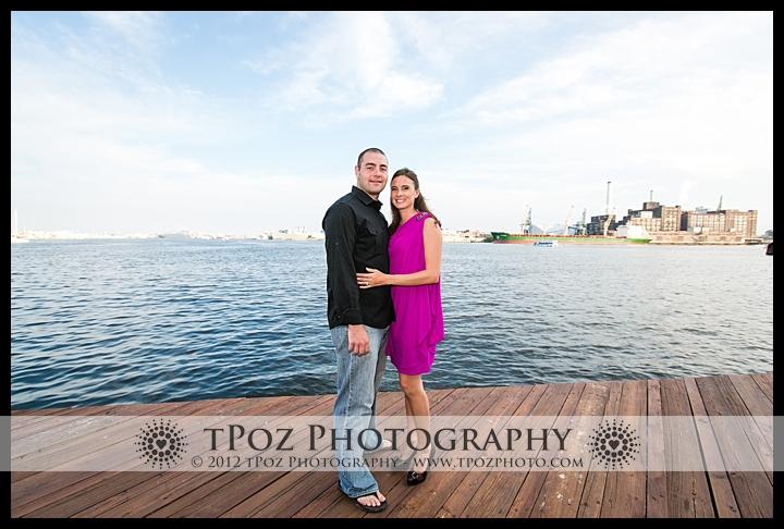 Fells Point Engagement Photo Bond Street Pier