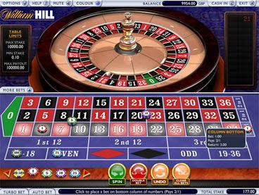william hill roulette