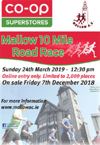 Mallow 10 - Sun 24th Mar 2019 - Limited entries