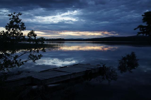 Nimpo Lake at night