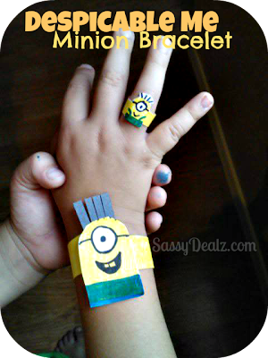 despicable me minion bracelet and ring craft
