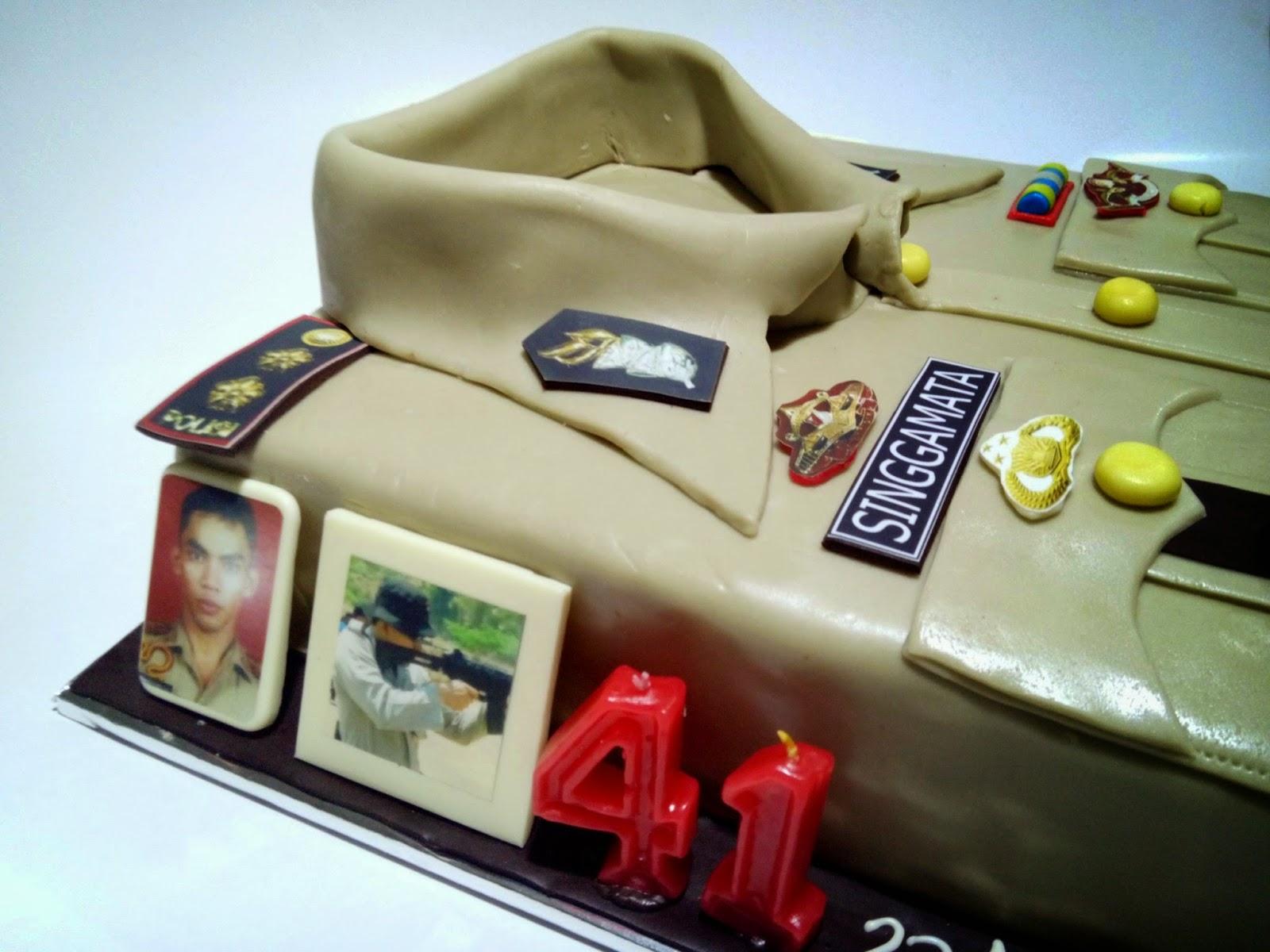 Cake Malang, Tart Malang, Coklat Malang, Seragam Polisi Cake, Singgamata
