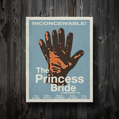 The Princess Bride- Handmade embroi dered pictures set of 3 embroided ...