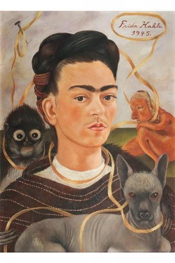 Frida Kahlo, autoportrait au singe, 1945