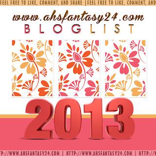 Jom Sertai Bloglist 2013 Ahsfantasy24.Com