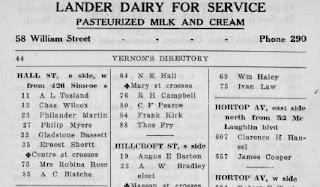 Vernon's Oshawa and Whitby City Directory 1926. Source: OshawaLibrary.ca