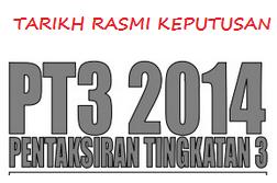 Keputusan PT3 2014