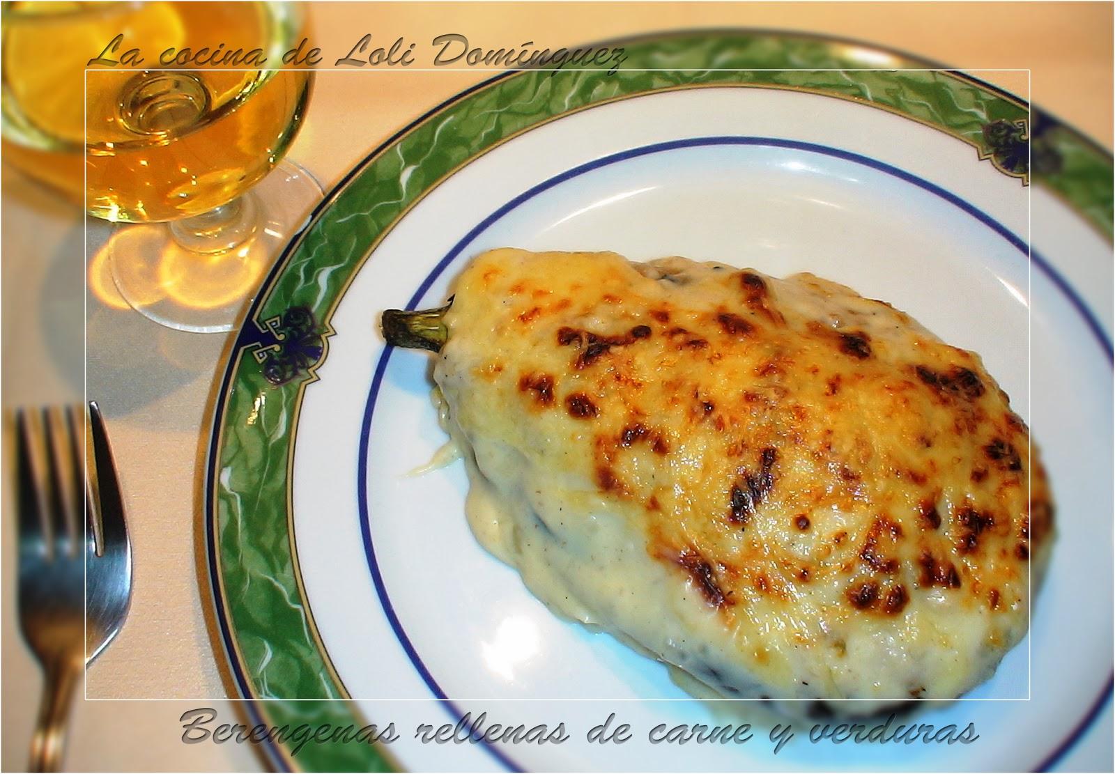 La cocina de loli dom nguez berenjenas rellenas de carne - Berenjena rellena de carne ...