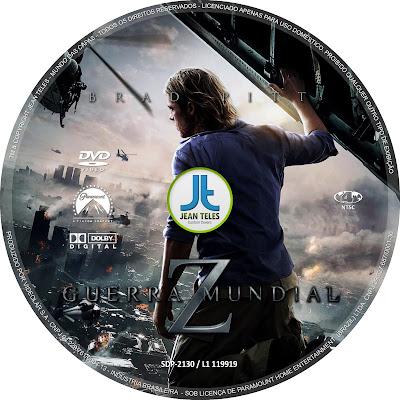 Capa do Dvd Guerra Mundial z Label Dvd Guerra Mundial z