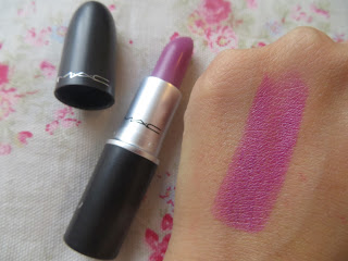 MAC, Up The Amp, Purple, Lipstick, Review, Blogger, Pretty, Swatch
