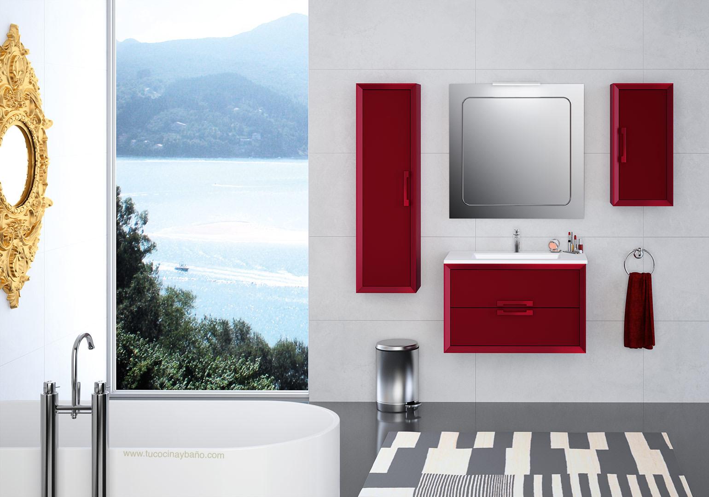 Mueble satinado bicolor deobas tu cocina y ba o for Accesorios bano colores