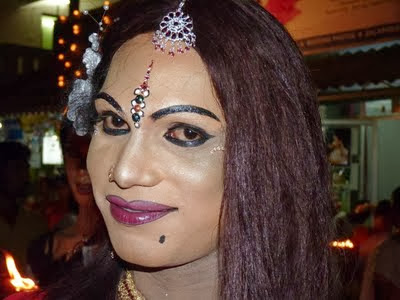 crossdresser indian festivals chamayavilakku men dressed as woman