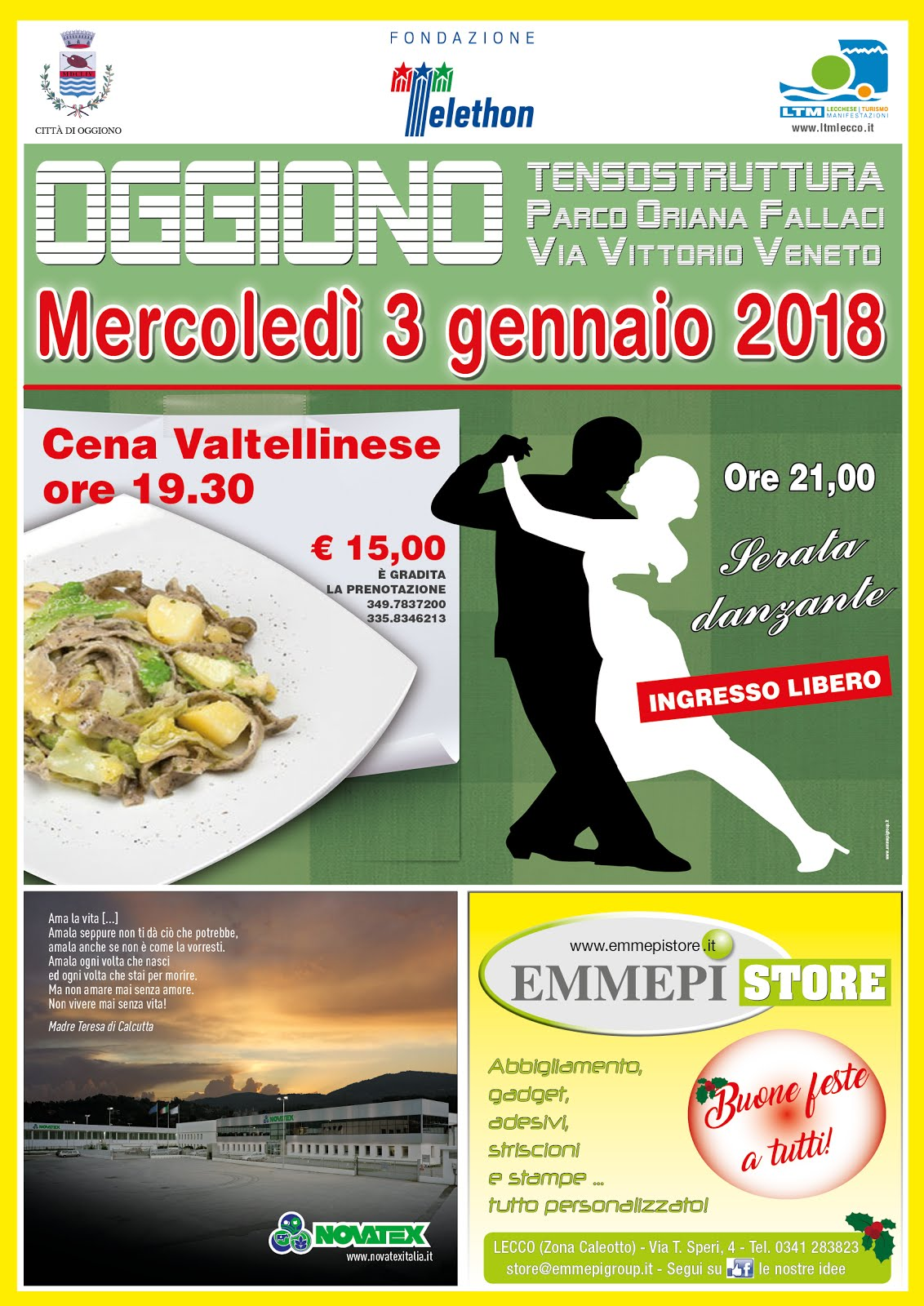 Serata benefica a Oggiono