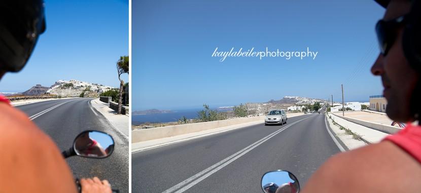 renting motorbike santorini photo