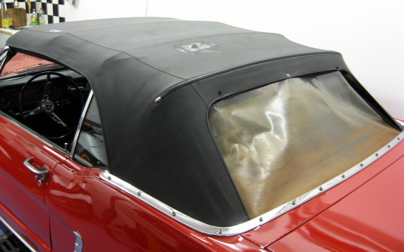 Restoration of a 1965 mustang convertible top replacement for 1966 mustang quarter window installation