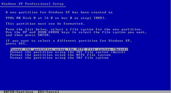 Format Partisi hard disk