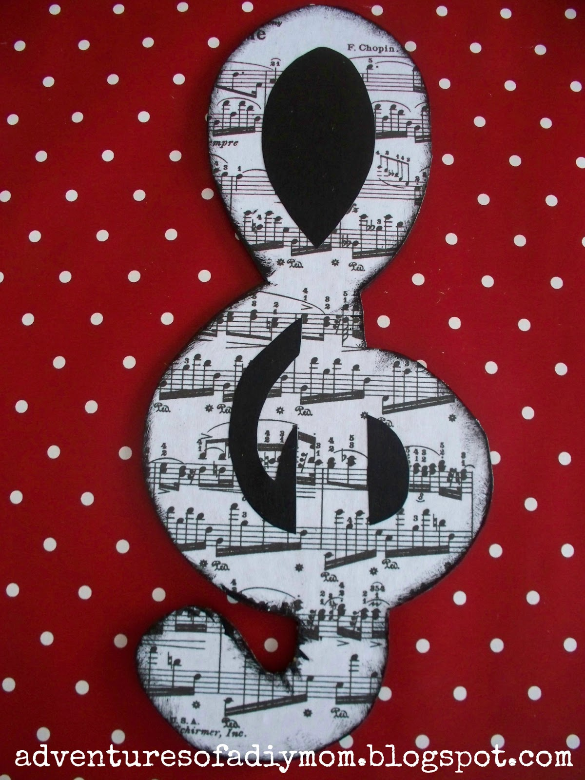 Mod Podge Wooden Music Notes Decor Adventures Of A DIY Mom