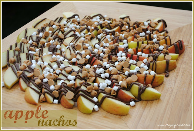 Peanut Butter Nutella Apple Nachos Recipe!