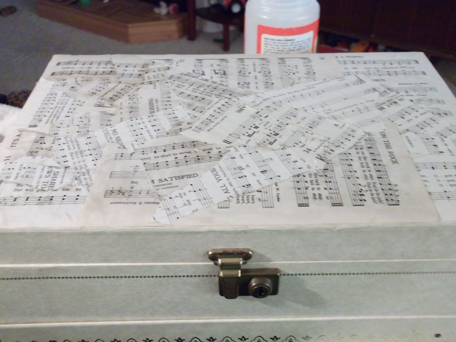 Mommy Mania Music Sheet Mod Podge Jewelry Box