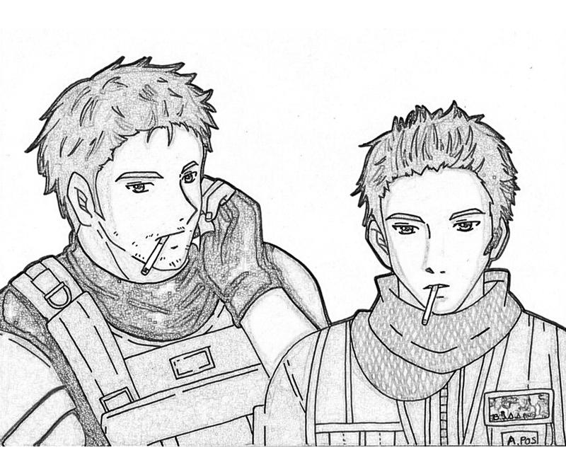 resident-evil-piers-nivans-and-chris-redfield-coloring-pages