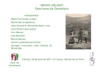 Canciones de Candelario Salamanca en las noches de la Torre de Candelario por el grupo de folk Velaí