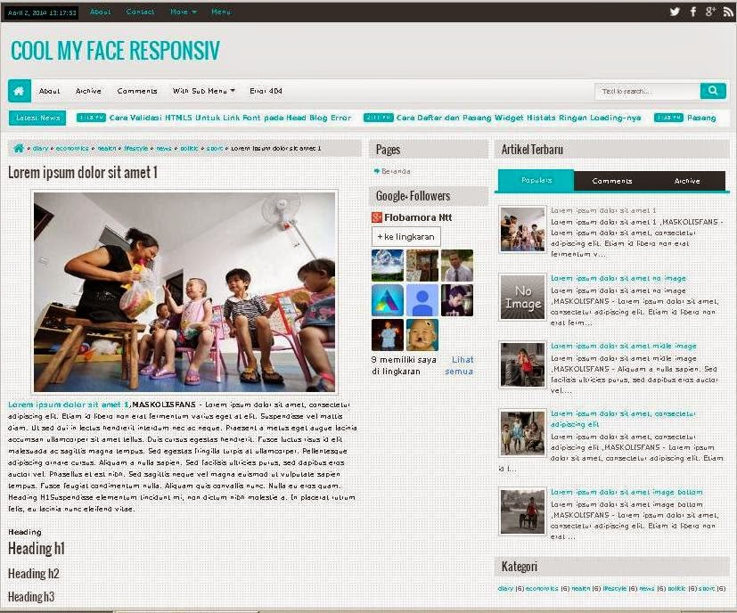 template blogger responsive free simple