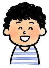 男の子の表情のイラスト(笑い)