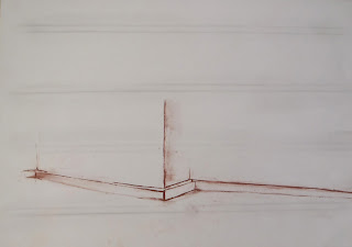 Shop corner 4. red chalk and graphite on paper