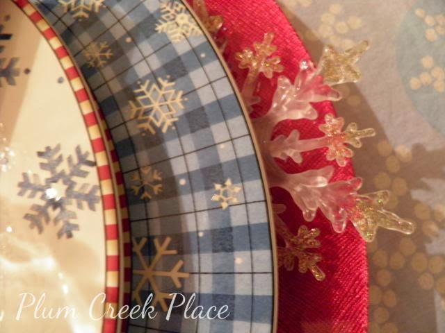 Debbie Mumm snowflake plates
