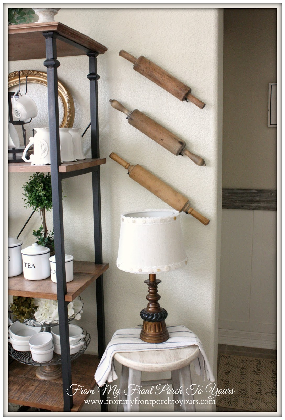 Rolling Pins on Wall-How I Found My Style Sundays- From My Front Porch To Yours