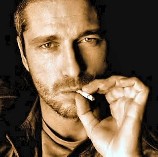 gerard butler smoking