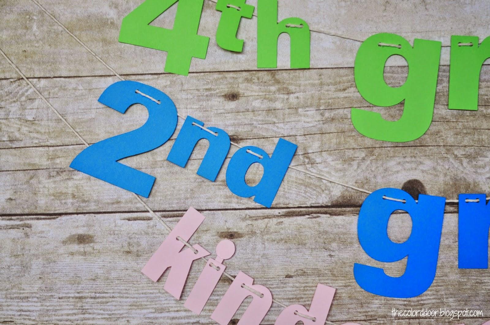 1st Day of School Banner | The colored door