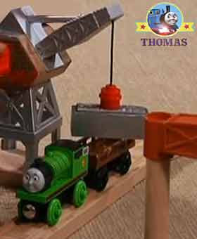 Thomas the tank engine Percy the green engine diesel 10 train Sodor Dieselworks wooden railway set