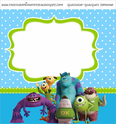 Monstruos University: Etiquetas para Imprimir Gratis.