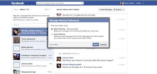 pubblicità facebook messaggi