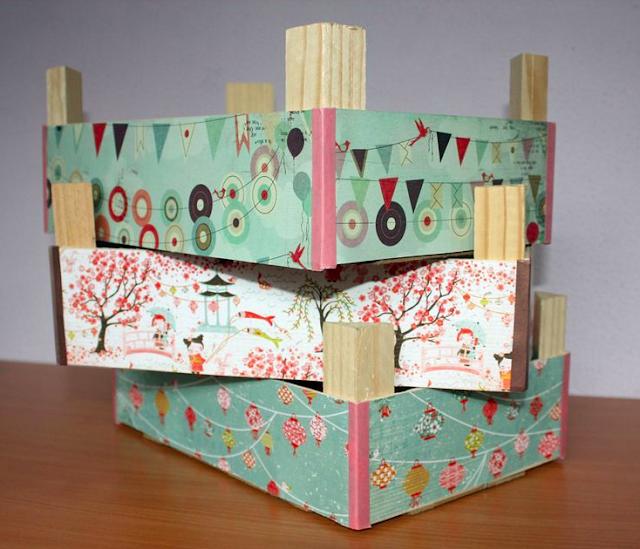 2 formas de reciclar cajas de fresas - Manualidades con cajas de frutas ...