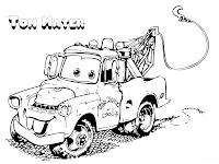 Mewarnai Tom Mater Si Mobil Derek Dari Film Disney Cars