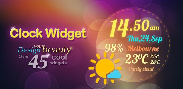Beautiful Clock Widget Pro v1.3 Apk App