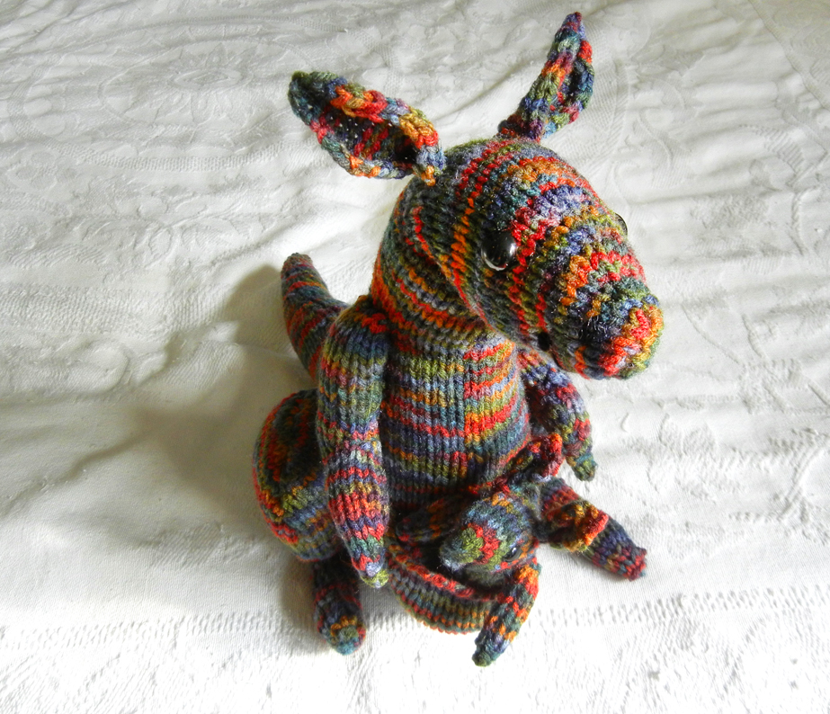 Kangaroo Pouch Knitting Pattern : Ten Thousand Hours: Knitted Kangaroo Mom & Baby Set
