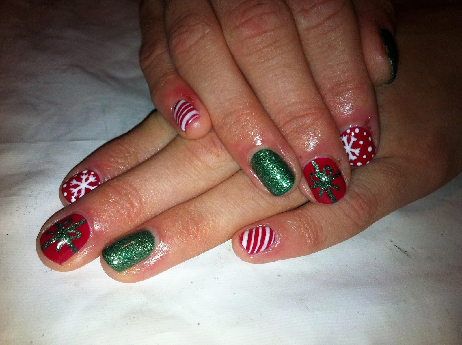 Brush up and Polish up!: CND Shellac Christmas Nail Art - #2 Red ...