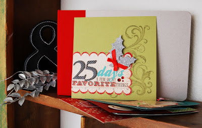 Holiday Advent #scrapbooking album by Jen Gallacher with printables to go along with the album. http://jengallacher.blogspot.com/2013/11/christmas-advent-mini-album-2peas-free.html