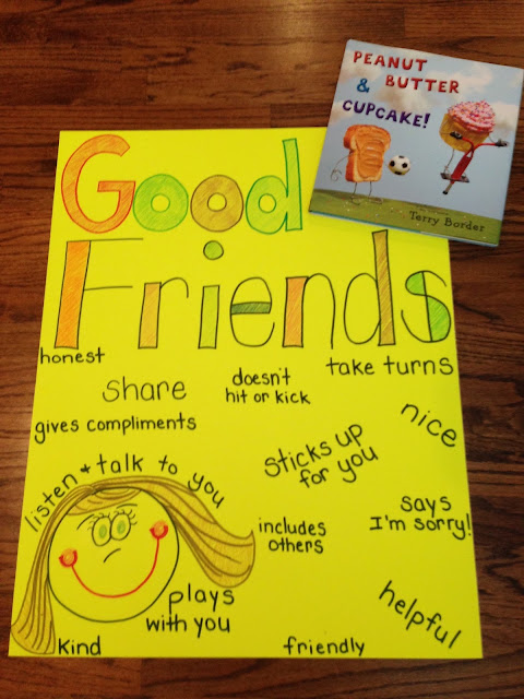 Teaching friendship with peanut butter cupcake for Friendship crafts for 2 year olds