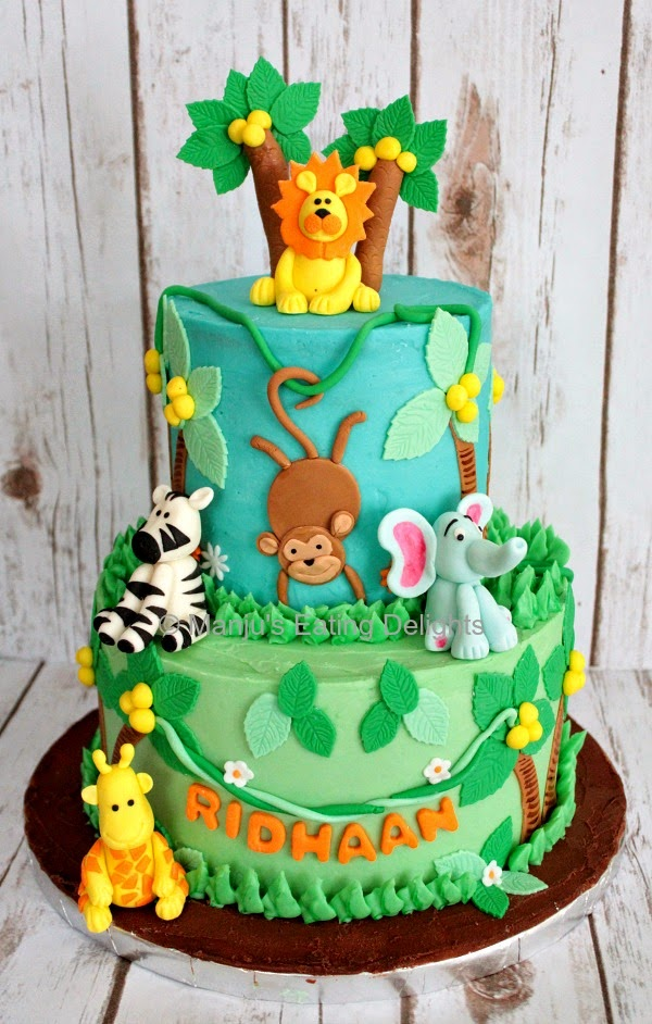 Manju s Eating Delights: Jungle Animals themed Cake
