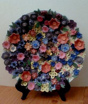 צלחת פרחים לכבוד האביב - מתנה לפסח