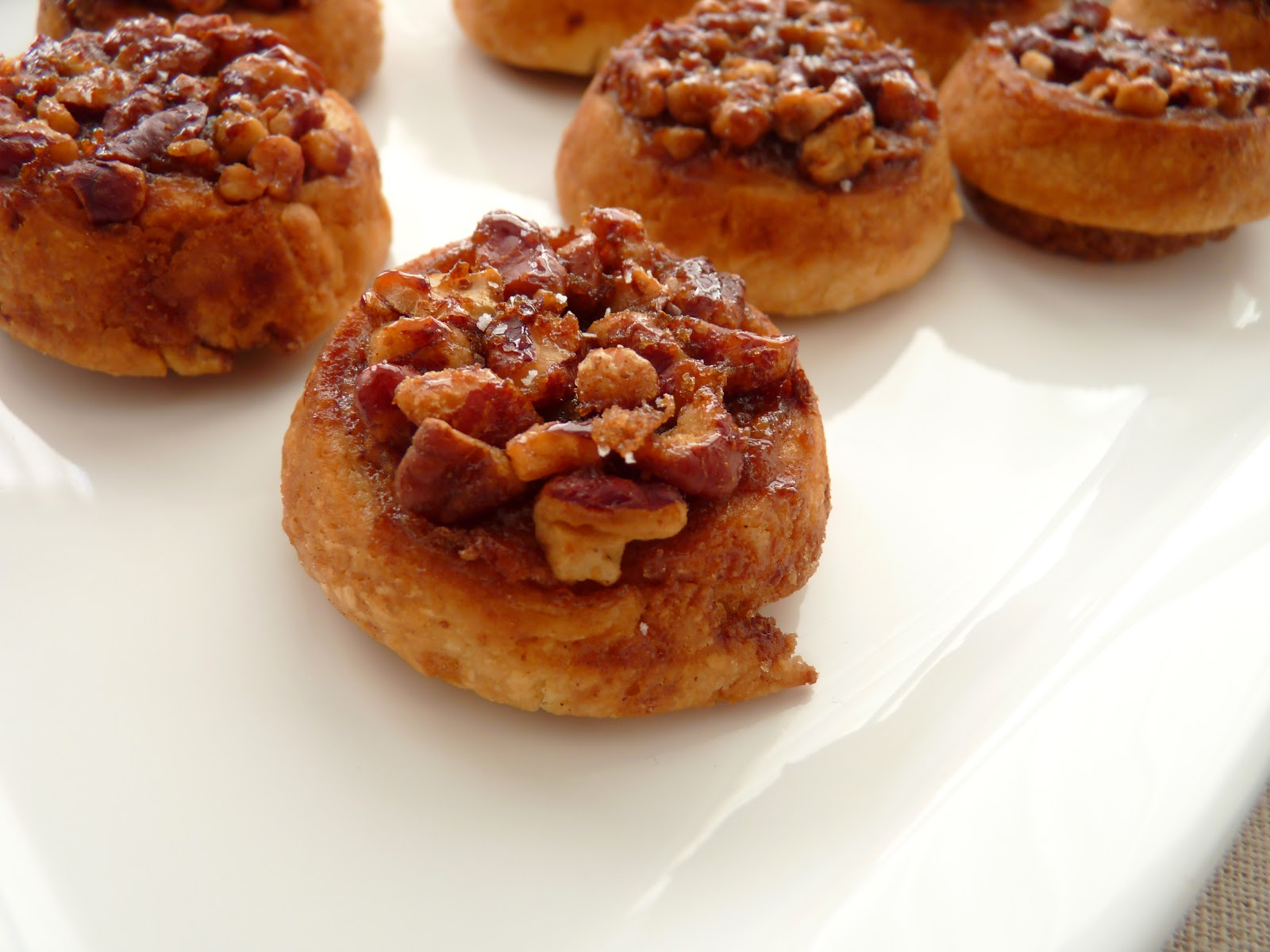 ... pecan sticky buns with orange and bourbon glaze pecan praline bites
