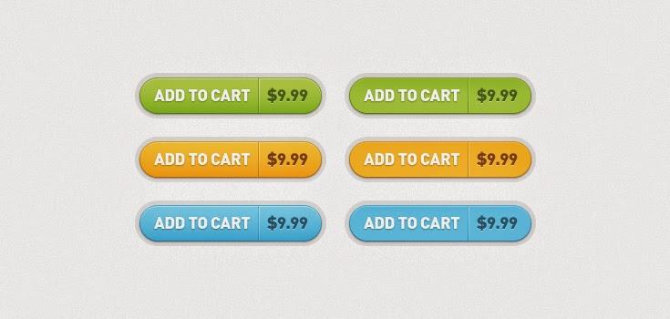 Add to Cart Buttons PSD