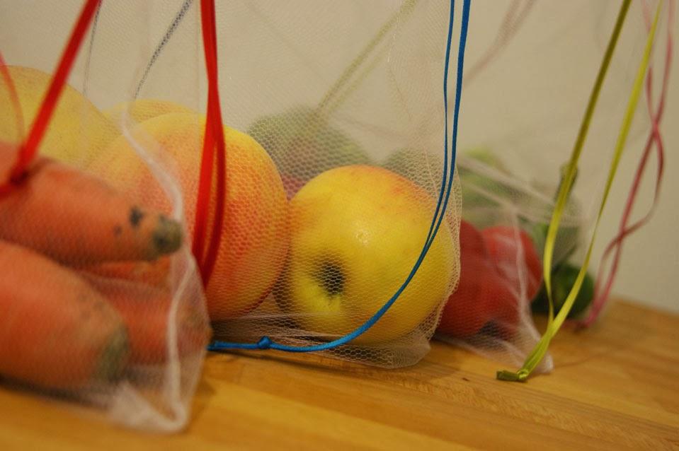 DIY wiederverwendbare Gemüsebeutel