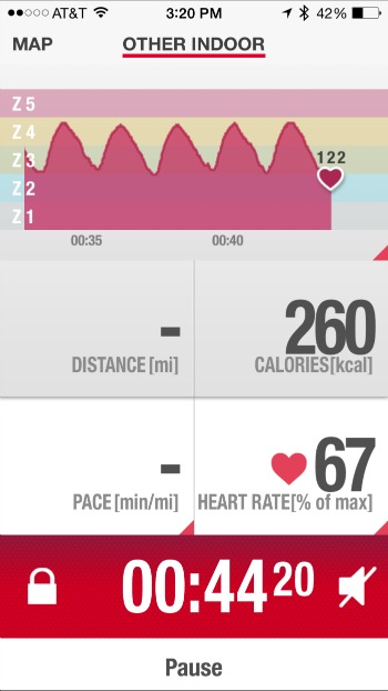 Sprints on Heart Rate Monitor