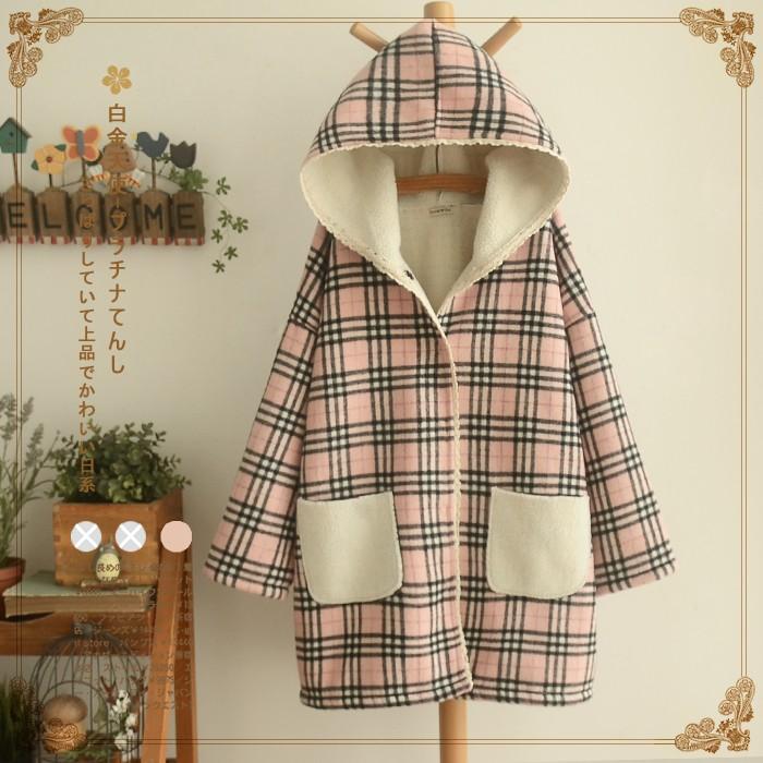 áo khoác lót bông sọc caro