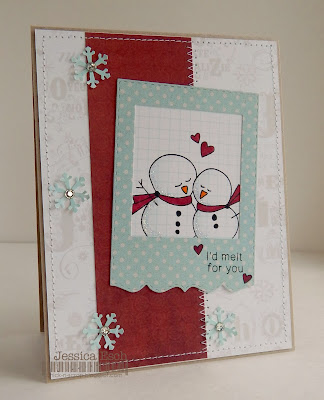 Sweet Snowman Card by Jessica Esch for Newton's Nook Designs